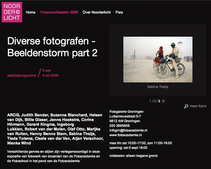 2009Beeldenstorm, part 2 / Noorderlicht festival, Fotoacademie, Groningen