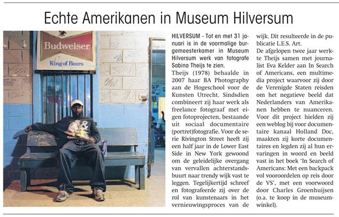 2010Echte Amerikanen, Museum Hilversum, Hilversum (solo)